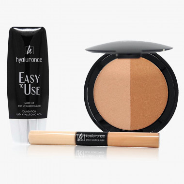 EasytoUse Foundation, Duo Concealer & Bronzing Powder Duo, Set 3-tlg.