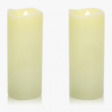 Echtwachs-3D-Kerzen Doppelset H 18 cm