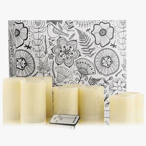 Flammenlose Kerzen mit Ausblas-Funktion 8er-Set
