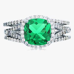 Ring 3-teilig smaragdgrün 925er Silber