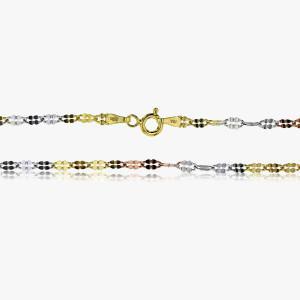 Halskette Tricolor 925er Silber