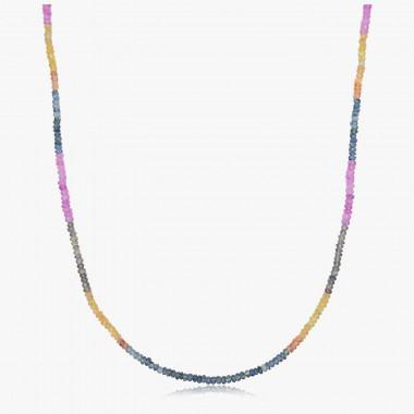Edelsteincollier Saphir multicolor