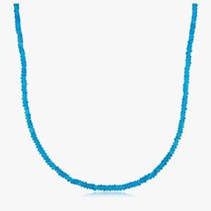 Edelsteincollier Apatit Neon Blue