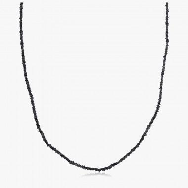 Edelsteincollier Diamant schwarz
