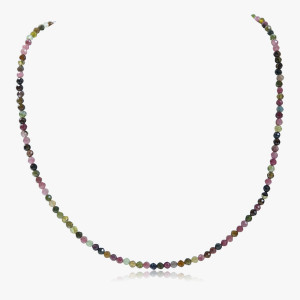 Edelsteincollier Turmalin multicolor
