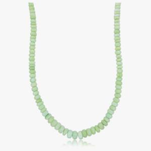 Edelsteincollier Andenopal grün-natur