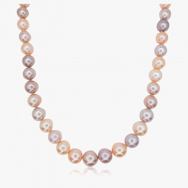 Perlencollier Edison naturfarben