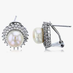 Perlen-Ohrstecker 925er Silber