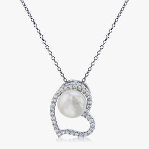 Halskette mit Perlen-Anhänger 925er Silber