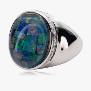Ring Mosaikopal-Zircon