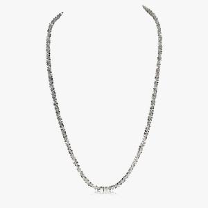 Halskette Criss-Cross 950er Silber
