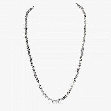 Collier Criss-Cross 950er Silber