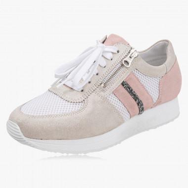 Schöner Sneaker Leder & Textil
