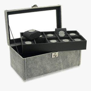 Echtleder-Uhrenkoffer Cubano